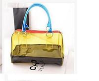 Claro bolso de la manera mujeres del color del caramelo bolsa transparente bolsas de playa PVC cuero bolsa de la compra Ver Seguido del bolso del bolso del monedero del totalizador de PVC de plástico 5 colores