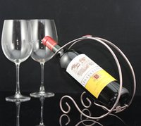 Wholesale Simple wine rack Bronze Champagne color CYF