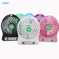 Wholesale DHL New Portable Palm leaf Fan Cute Mini USB Port Removable Lithium Battery Charging Desktop Small Cool Fan