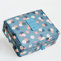 Wholesale makeup bag women cosmetic bag toiletry storage travel bags ladies cosmetic case wash blue burgundy navy color