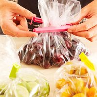 Wholesale 6pcs Large Food Snack Bag Storage Sealing Clips Seal Clamp Plastic Bags Ziplock Clip Home Food Storage Helper