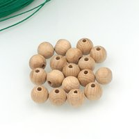 Wholesale DIY Natural mm round beads unfinished beech wooden beads Teething necklace accessory Germany beech wood WC055