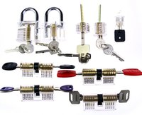 auto train shipping - DHL Transparent Visible Cutaway Practice Padlock Unlocking Lock Picks Tools Door Lock Pick Training Skill For Locksmith