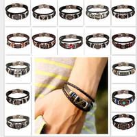bar mix set - 2016 HOT Bracelets Mix Style Fashion Jewelry Leather Infinity Charm Bracelet Vintage Accessories Lover Gifts