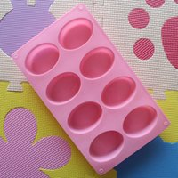Wholesale Brand New Cavity Oval Soap Mold Silicone Chocolate Mould Tray Homemade Muffin Making Pc FG091075