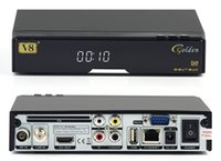 Wholesale V8 Golden USB Wifi DVB S2 T2 C Satellite TV Combo Receiver Support PowerVu Biss Key Cccamd Newcamd USB Wifi