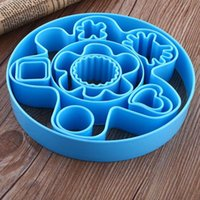 Wholesale New Lovely Heart Flower Fondant Cookie Biscuit Chocolate Sugarcraft Cake Cutter Mould Printing Sugar Cookies DIY