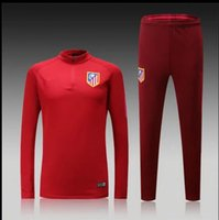 Wholesale Atletico coat new maroon red jacket playing game service training pants legs Admission clothing