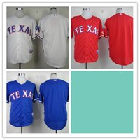texas rangers - Mix Order Stitched Baseball Jerseys Texas Rangers Blank White Red Blue Cheap Home Road MLB Jersey