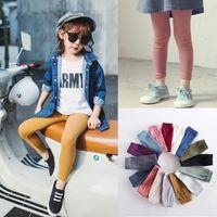 Wholesale 16 Plain Colors Girl s Pants Candy Color Kids Leggings Age Full Length Panties Drop Shipping