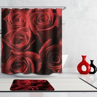 beach curtains - New Polyester Shower Curtain Beautiful Print Bathroom Curtain Thicken Sexy and Fashion Girl Rose Beach Shower Curtain Waterproof