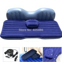 Wholesale Car Travel Iatable Mattress Iatable Bed Camping Back Seat Extended Mattress for Parent child or Lover Gray Flocking