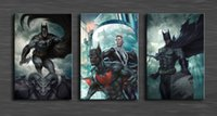 batman original art - Original US High tech HD Print Oil Painting Art On Canvas Batman panels set Unframed