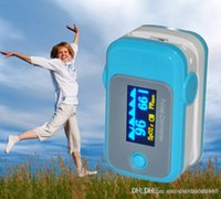 Wholesale SPO2 PR OLED Display Fingertip Pulse Oximeter with Audio Alarm Pulse Sound BLUE Spo2 Monitor