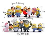 Wholesale 14 set hot style ME2 thief dads despicable me yellow hands do doll furnishing articles
