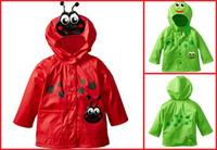 baby rain jackets - Cartoon frog baby jacket children spring autumn hoodie new wind and rain raincoat children factory direct A