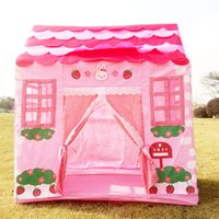 Cheap Wholesale-100*60*110CM Kids Tent Pink Princess Play Tent Play Game House for Children Outdoor Fun Beach Tent Toys