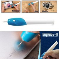 Wholesale 6 Electronics Engraving Pen Stationery school supplies DIY Engrave it Engraving tool Electric Carving Pen