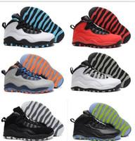 al por mayor jordan mujer-Zapatos de baloncesto de los hombres atléticos Descuento Air New China Jordan Retro Zapatos 10 deportes con alta calidad China jordans J10 envío gratuito
