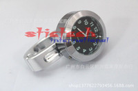 Wholesale by dhl or ems Universal mm color Motorcycle Handlebar Bar Mount Clock Grip Watch for Cruiser suzuki honda handle watch