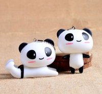 baby bag manufacturers - The manufacturers recommend stereo feel super good black and white vinyl baby panda Keychain Korea cute cartoon bag