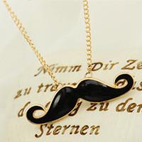 Wholesale Fashion personality mustache Pendants necklace sweater chain