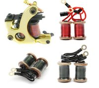 Wholesale Dual Wrap Hand Wound Tattoo Supply Machine Shader Liner Copper Wire Coils