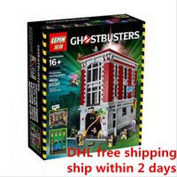 Wholesale Newest Hot Sell LEPIN Ghostbusters Firehouse Headquarters Model Building Kits Minifigure Blocks Bricks Compatible with Legoe