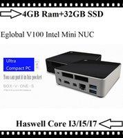 Wholesale Eglobal Mini Nuc Haswell Intel Core i3 i5 i7 GB Ram GB SSD Mini PC Win8 TV Box Graphics K HD HDMI Mini DP M Wifi
