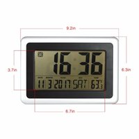 automobile calendars - Brand Hippih Automobile clock Reveil Electronic LED Desk Reloj Despertador Clock Temperature Non Abbreviated Day Date Display