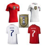 Wholesale 2016 Soccer Jersey Chile camisetas de futbol SANCHEZ VALDIVIA MEDEL VIDAL Home Red away white Football Clothes ALEXIS America ShirtS