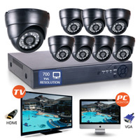 Wholesale 1 quot CMOS CH Full D1 H Surveillance HDMI DVR TVL IR Led mm Len Network Indoor Security CCTV DOME Camera System support onvif