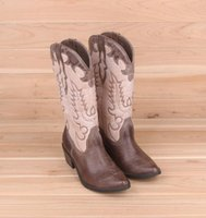 beige riding boots - Fashion Women s Retro Embroidery Beige Chocolate Warm Flock High Riding boots Western Boots Cowboy Boots