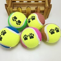Wholesale Free DHL Shipping New Airrival Pet Supplies Dog Funny Toy Tennis Balls Run fetch Throw Play Toy Chew Toys