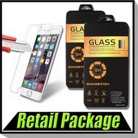 Wholesale 9H Explosion Proof Real Premium Tempered Glass Screen Protector Film For iPhone S Plus Samsung S7 Edge A8 A9 With Retail Box MOQ