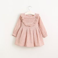 Wholesale baby girls shirt autumn new arrival dot bow cotton korean cute kids t shirt y