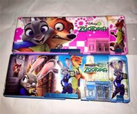 Wholesale children zootopia pencil cases Hot cartoon zootopia nick judy pencil case kids student pen sack stationery school supplies kids gifts
