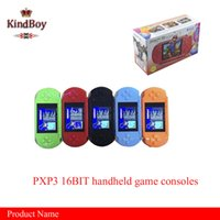 Wholesale Hot selling16 Bit Video Game Player PXP3 PXP Slim Station Pocket Game Game Card Retail Box A YXJ from kindboy