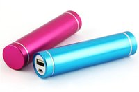 battery pack - Cheap Power Bank Portable mAh Cylinder PowerBank External Backup Battery Charger Emergency Power Pack Chargers for all Mobile Phones