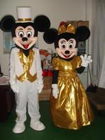 achat en gros de dres de mariage de haute qualité-Robe de mariée de haute qualité Mickey Mascot Costumes personnage de bande dessinée Fancy Suit anniversaire Halloween Xmas Party Dres Livraison gratuite