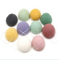 Wholesale Konjac Sponge Puff Herbal Facial Sponges Pure Natural Konjac Vegetable Fiber Making Cleansing Tools For Face And Body
