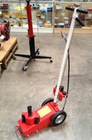 air hydraulic floor jack - AUTO CAR Garage TON Axle AIR HYDRAULIC FLOOR JACK quot With quot solid rubber Wheels