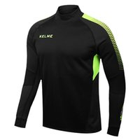 Wholesale Kelme K089 Men Long Sleeve Thumb Buckle Training Light Board Team Sportswear Football Jersey Black