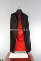 adult costume cape - 140CM Wizard Dress Smock Cloak Vampire Cape Magic Classic Sexy Halloween Costumes Unisex Polyester Adult Cosplay