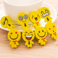 accessory design schools - Emoji Smile Face Erasers Rubber For Pencil Kid Funny Cute Stationery Novelty Eraser Office Accessories School Supplies