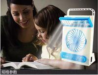 Wholesale NEW Solar LED Portable lantern Flashlight Fan in light V V USB charging Camping llight LED W Mini Fan PC UP