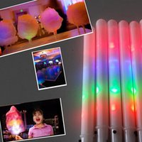 Wholesale LED Glow Sticks Light Up Wands Toys Marshmallow Cotton Candy Sticks Party Supplies LED Light Stick Glow Party Supplies