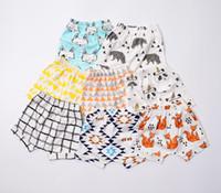 Wholesale INS hot sale baby pants children harem pants baby fox print cotton pants baby pp pants