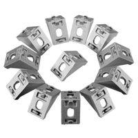 Wholesale DIY Building Material Serie Corner Brackets Angle Connector Fastener Decorative Industrial Aluminum Profile Accessory