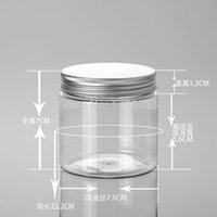 acid aluminum - DIY g Clear Cream Jar g PET jar cosmetic container cosmetic packaging Aluminum Cap